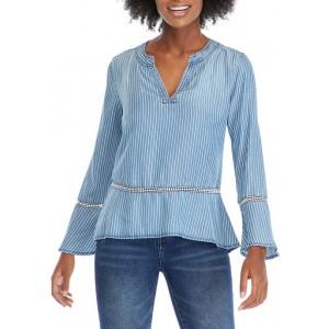 Kim Rogers® Women's Lyocell® Woven Stripe Top