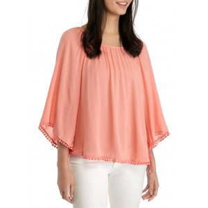 New Directions® Women's 3/4 Sleeve Peasant Top with Trim