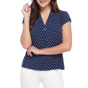 Rafaella Women's Starband Dot Cap Sleeve Top