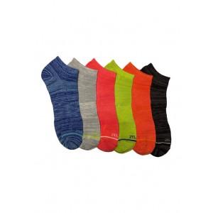 ZELOS 6 Pack Space Dye No Show Socks