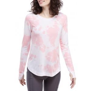 ZELOS Tie Dye Round Hem Shirt