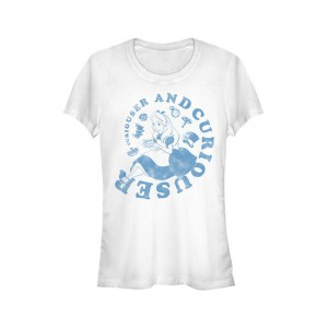 Alice in Wonderland Junior's Licensed Disney Alice Curiouser And Curiouser T-Shirt