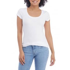 Aveto Junior's 2 Pack Scoop Neck Cap Sleeve T-Shirts