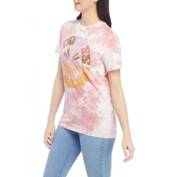 Cold Crush Junior's Short Sleeve Tie Dye Kindness is Golden Graphic T-Shirt