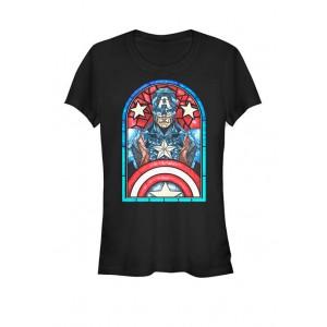 Marvel™ Captain America Avengers Stained Glass Memorial Short Sleeve Graphic T-Shirt