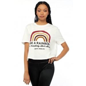 Maya Angelou Junior's Short Sleeve Skimmer Be A Rainbow T-Shirt