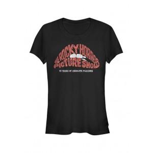 Rocky Horror Picture Show Junior's Glitter Anniversary Graphic T-Shirt