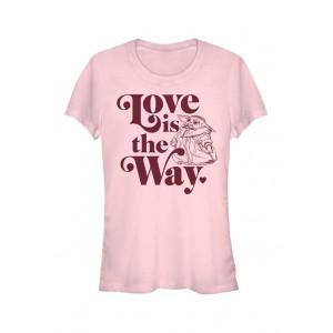 Star Wars The Mandalorian Junior's Love Is Grogu T-Shirt