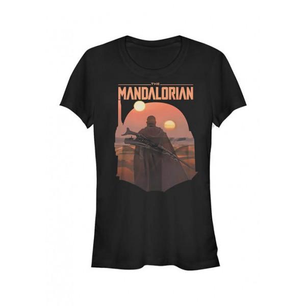 Star Wars The Mandalorian Junior's MandoMon Epi Reveal Graphic T-Shirt