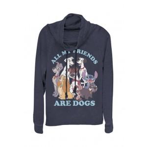 Disney Multi-Franchise Junior's Licensed Disney Dog Friends Pullover Top
