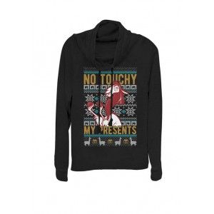 Disney® Emperor's New Groove Kuzco No Touchy Ugly Christmas Cowl Neck Graphic Pullover