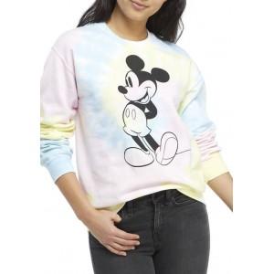Disney® Junior's Long Sleeve Fleece Mickey Graphic Pullover