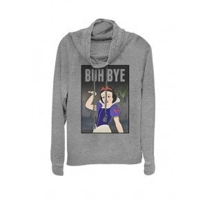 Disney® Snow White Buh Bye Poster Cowl Neck Graphic Pullover