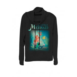 Disney® The Little Mermaid Ariel and Friends Cowl Neck Graphic Pullover