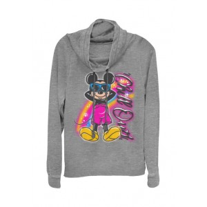 Mickey Classic Junior's Licensed Disney Airbrushed Mickey Pullover Top