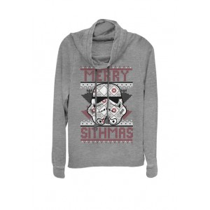 Star Wars® Christmas Stormtrooper Merry Sithmas Holiday Sweater Cowl Neck Graphic Pullover
