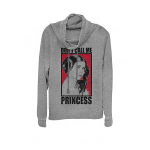 Star Wars® Leia Don't Call Me Princess Poster Cowl Neck Graphic Pullover