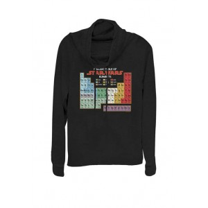 Star Wars® Periodic Table of Elements Graphic Cowl Neck Pullover