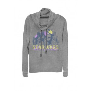 Star Wars® Rise of Skywalker Retro Rebel Group Cowl Neck Graphic Pullover