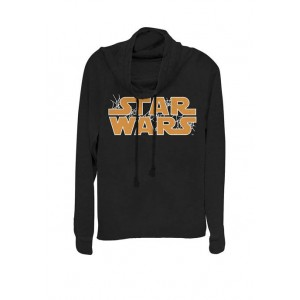 Star Wars® Webbed Logo Cowl Neck Graphic Pullover