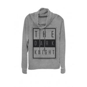 The Dark Night Urban Text Logo Cowl Neck Pullover Sweater