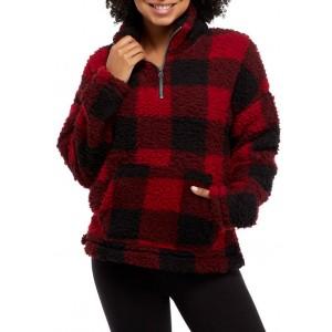 TRUE CRAFT Funnel Neck Sherpa Pullover
