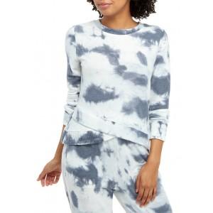 TRUE CRAFT Soft Shop Tie Dye Asymmetrical Hem Pullover