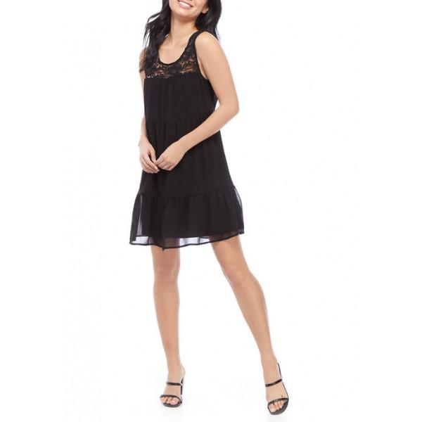 As U Wish Junior's Sleeveless Lace Babydoll Dress