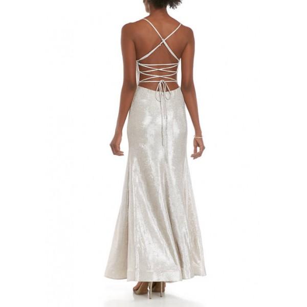 B. Darlin Women's Glitter Mermaid Gown