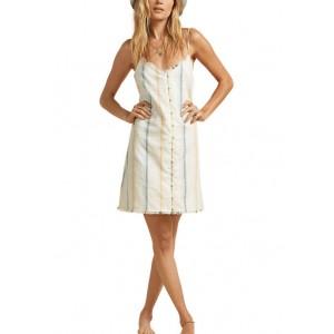 Billabong Sleeveless Striped Mini Dress