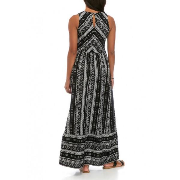 TRUE CRAFT Junior's Yarn Dyed Woven Maxi Dress