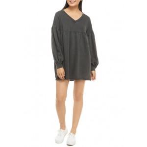 TRUE CRAFT Soft Shop Lantern Sleeve Dress