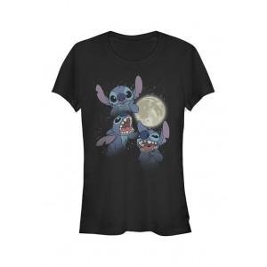 Lilo and Stitch Junior's Licensed Disney Three Stitch Moon T-Shirt