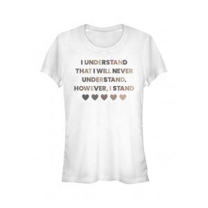 V-Line Junior's However I Stand T-Shirt