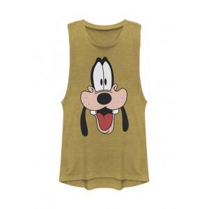 Goofy Movie Junior's Licensed Disney Goofy Dad Big Face Tank Top