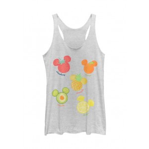 Mickey Classic Junior's Assorted Fruit Graphic Tank