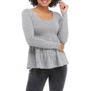 love, Fire Junior's Hacci Tiered Babydoll Top