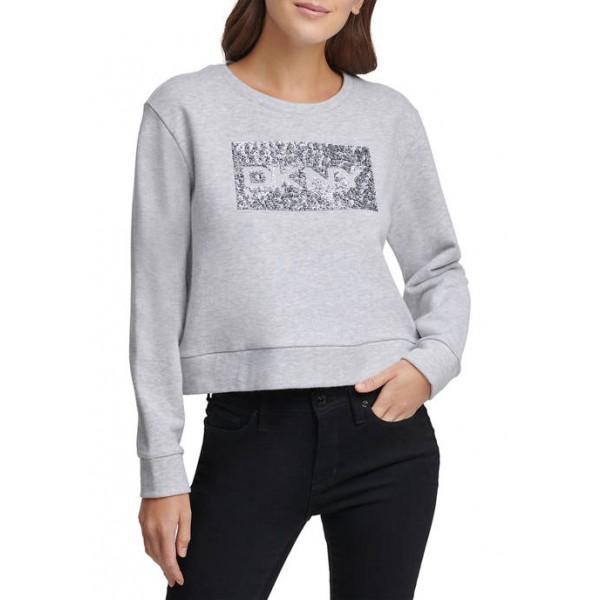 DKNY Sequin Logo Sweatshirt