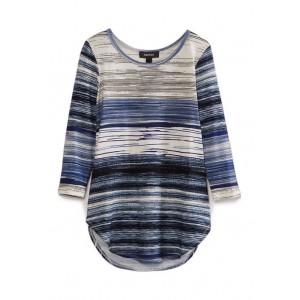 Karen Kane Women's 3/4 Sleeve Shirttail Top