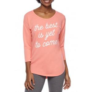 New Directions® Studio Women's 3/4 Sleeve Graphic T-Shirt