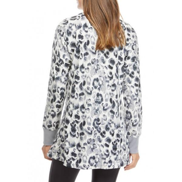 New Directions® Studio Women's Crew Neck Sweatshirt with Slits