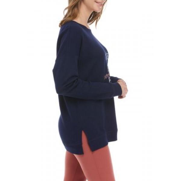 New Directions® Studio Women's Drop Shoulder Graphic Sweatshirt
