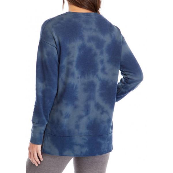 New Directions® Studio Women's Long Sleeve Slouchy Raglan Tunic Pullover