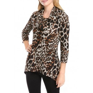 New Directions® Women's Cowl Neck Printed Pullover