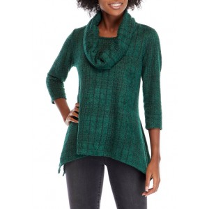 New Directions® Women's Hacci Cowl Neck Top