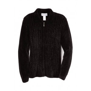 Alfred Dunner Women's Worth Avenue Chenille Cardigan Sweater