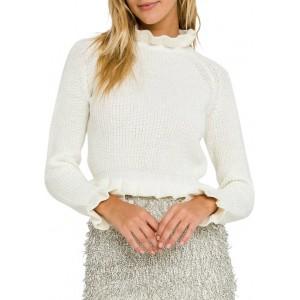 Endless Rose Women's Ruffle Long Sleeve Sweater