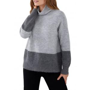 Karen Kane Women's Colorblock Mock Neck Sweater