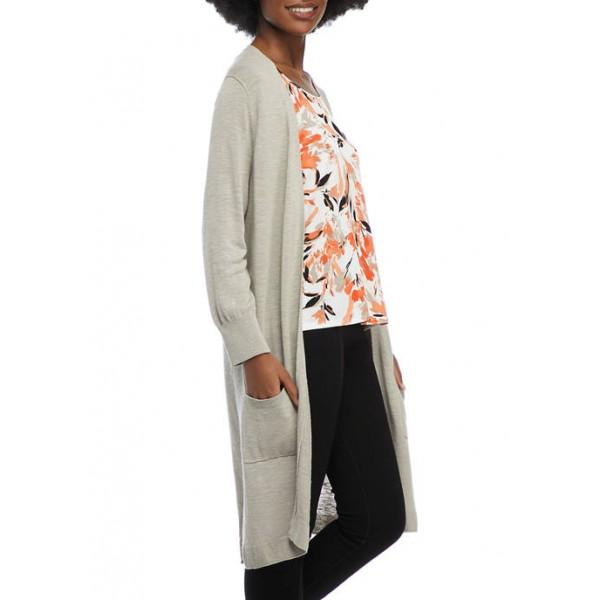 Kasper Women's 3/4 Sleeve Patch Pocket Duster