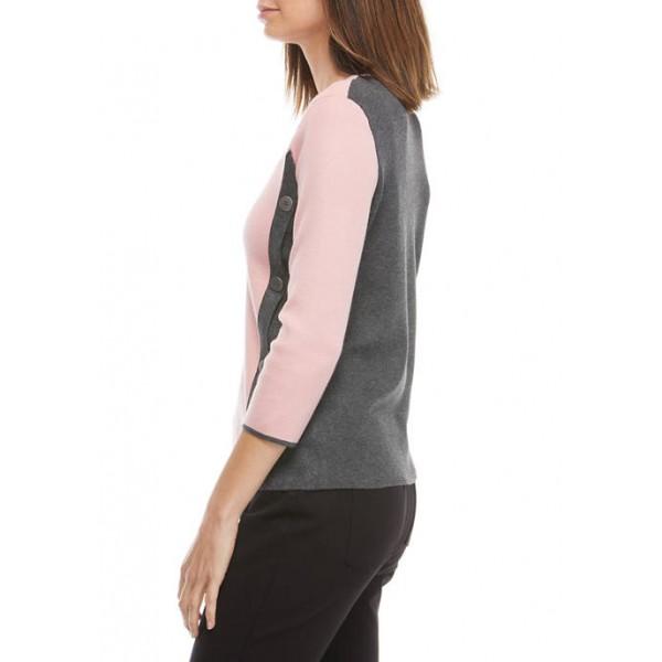 Kim Rogers® Women's Button Sweater